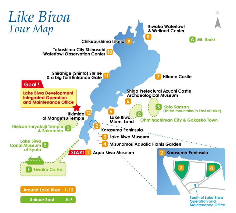 lake biwa japan map Japan Water Agency Tourist Attractions Tokuyama lake biwa japan map